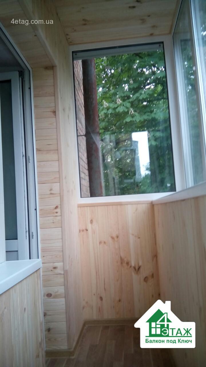 Обшивка балкона деревянной вагонкой - качественный подход ag.